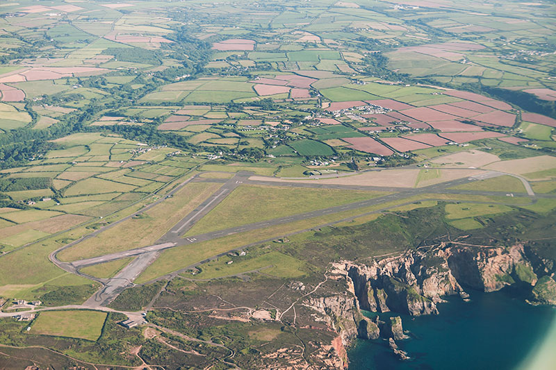 Perranporth Airfield. Image available from Simon Westwood of Fly-by-Light Photography.