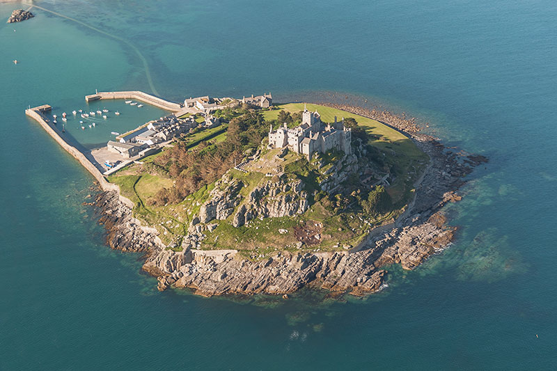 Saint Michael's Mount. Image available from Simon Westwood of Fly-by-Light Photography.