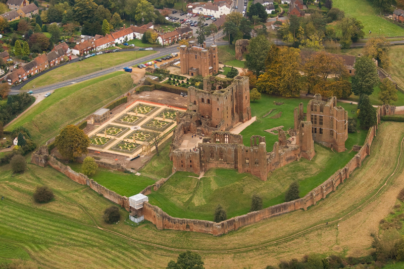 Kenilworth Castle, Warwickshire. Image available from Simon Westwood of Fly-by-Light Photography.