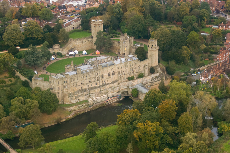 Warwick Castle. Image available from Simon Westwood of Fly-by-Light Photography.