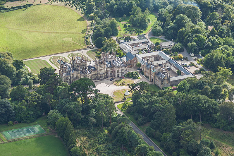 Tregothnan House. Image available from Simon Westwood of Fly-by-Light Photography.