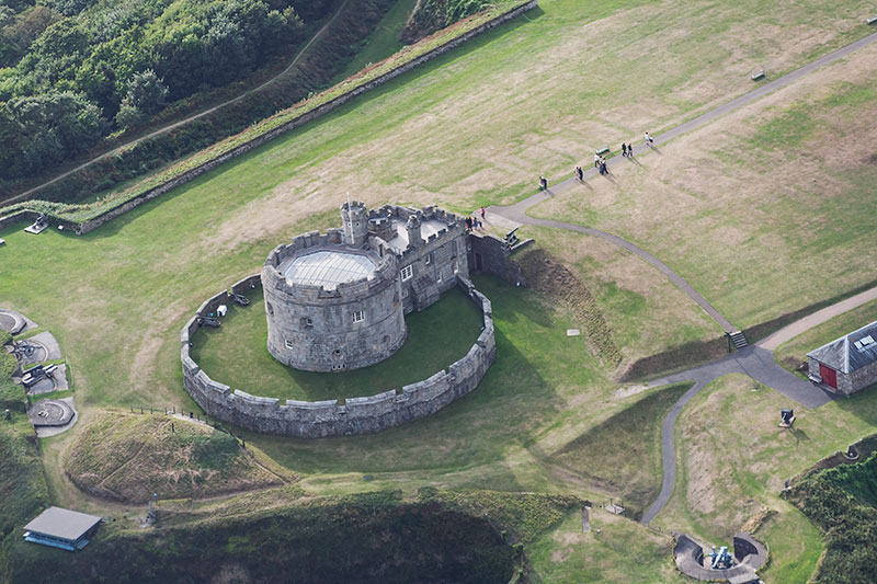 Pendennis Castle. Image available from Simon Westwood of Fly-by-Light Photography.