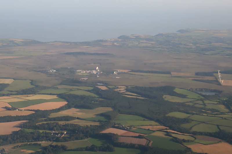 Goonhilly Downs, Helston, Cornwall. Image available from Simon Westwood of Fly-by-Light Photography.