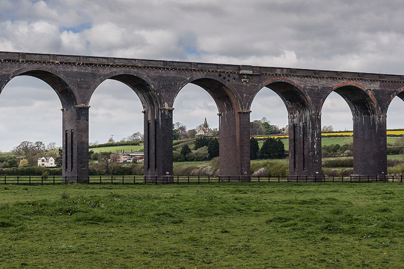 The Harringworth Viaduct. Image available from Simon Westwood of Fly-by-Light Photography.