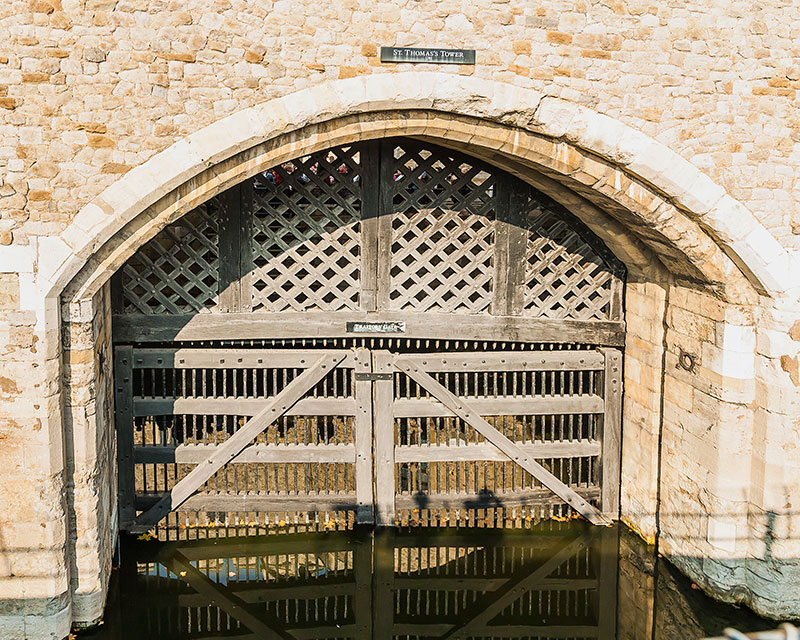 Traitors Gate. Image available from Simon Westwood of Fly-by-Light Photography.