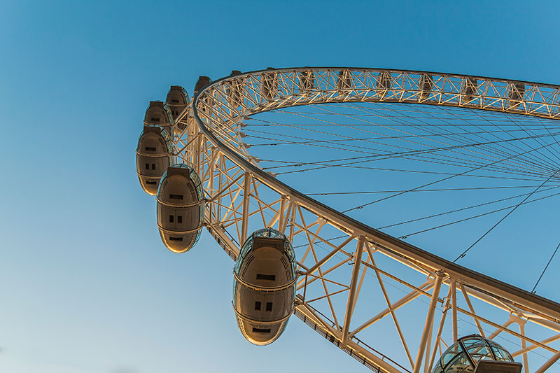 London Eye. Image available from Simon Westwood of Fly-by-Light Photography.