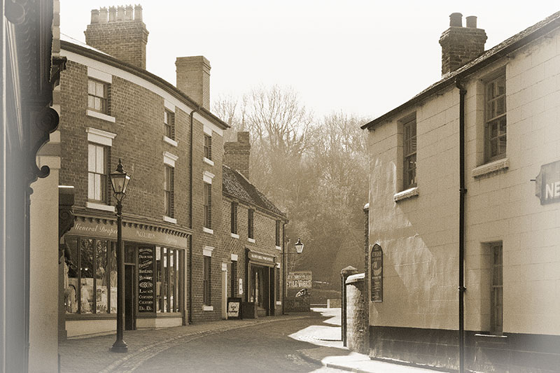 Victorian Street Scene. Image available from Simon Westwood of Fly-by-Light Photography.