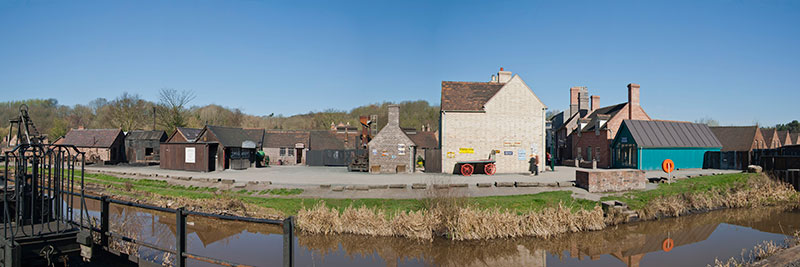 Blists Hill panorama. Image available from Simon Westwood of Fly-by-Light Photography.
