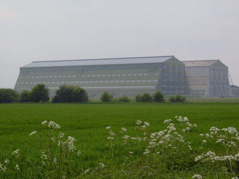 Cardington Airship Hangars. Image available from Simon Westwood of Fly-by-Light Photography.