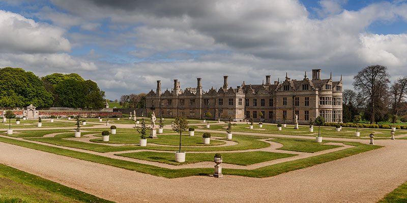 Kirby Hall, Rutland. Image available from Simon Westwood of Fly-by-Light Photography.