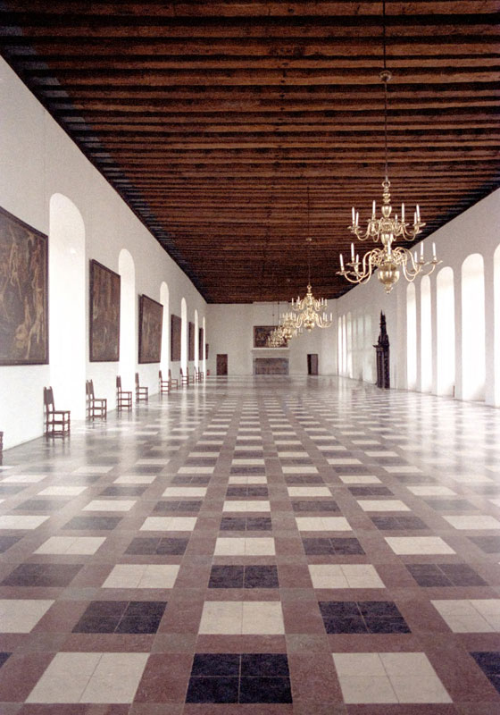 Interior of the Great Hall, Kronborg Castle, Denmark. Image available from Simon Westwood of Fly-by-Light Photography.