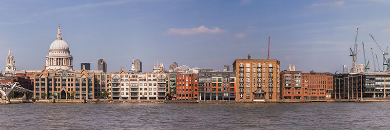 St Pauls Cathedral and City of London waterfront. Image available from Simon Westwood of Fly-by-Light Photography.