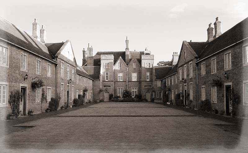 The Alms Houses at Temple Balsall. Image available from Simon Westwood of Fly-by-Light Photography.