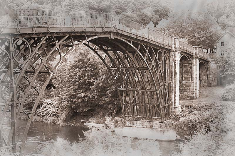 The Iron Bridge at Ironbridge. Image available from Simon Westwood of Fly-by-Light Photography.