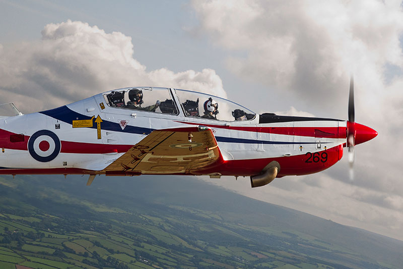 RAF Shorts Tucano. Image available from Simon Westwood of Fly-by-Light Photography.