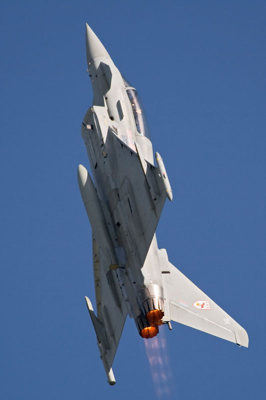 RAF Typhoon Fighter. Image available from Simon Westwood of Fly-by-Light Photography.