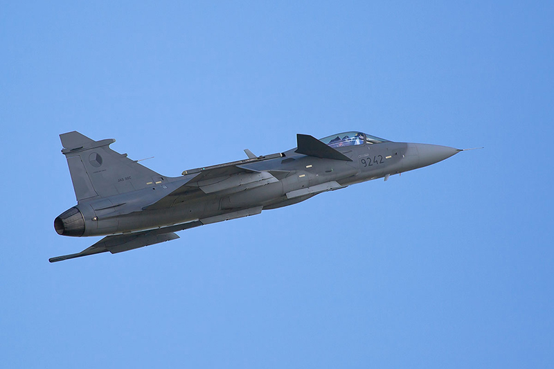 Saab Gripen. Image available from Simon Westwood of Fly-by-Light Photography.