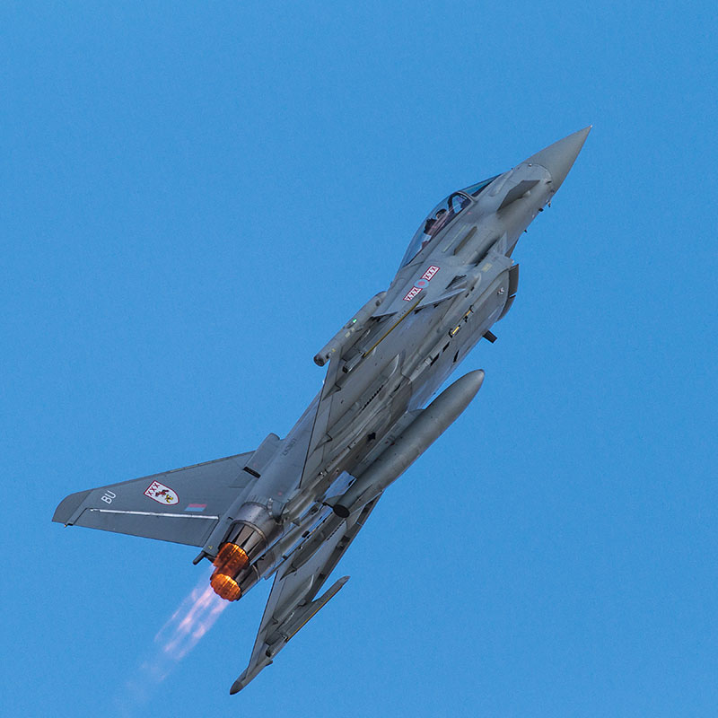 29 Squadron Typhoon. Image available from Simon Westwood of Fly-by-Light Photography.