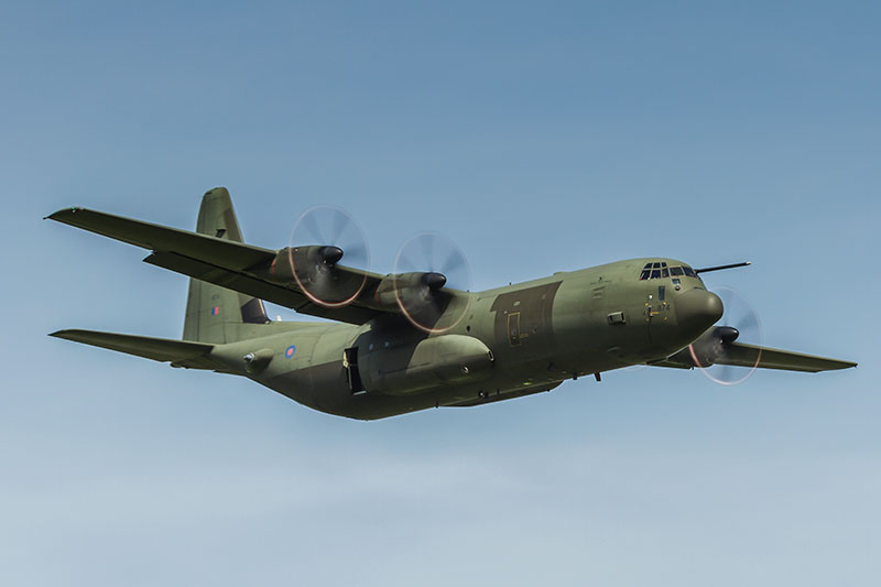 C-130J Hercules C4. Image available from Simon Westwood of Fly-by-Light Photography.