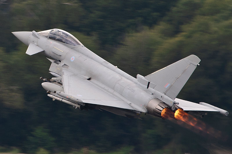 RAF Typhoon. Image available from Simon Westwood of Fly-by-Light Photography.