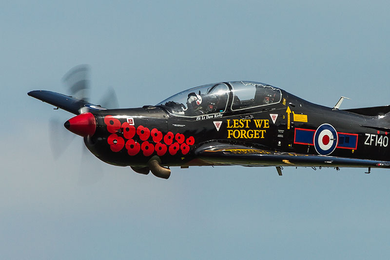Shorts Tucano - 'Lest We Forget' - ZF140. Image available from Simon Westwood of Fly-by-Light Photography.