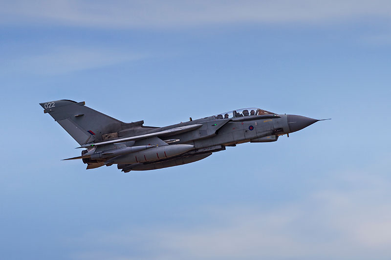 Tornado GR4. Image available from Simon Westwood of Fly-by-Light Photography.