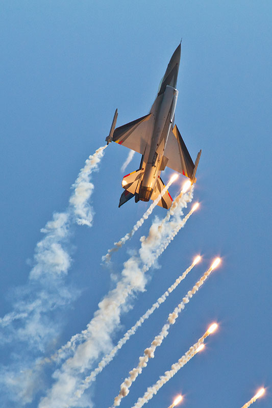 F-16 - Belgian Air Force. Image available from Simon Westwood of Fly-by-Light Photography.