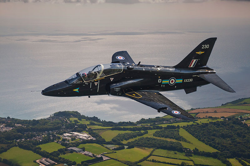 BAe Hawk Mk 1. Image available from Simon Westwood of Fly-by-Light Photography.