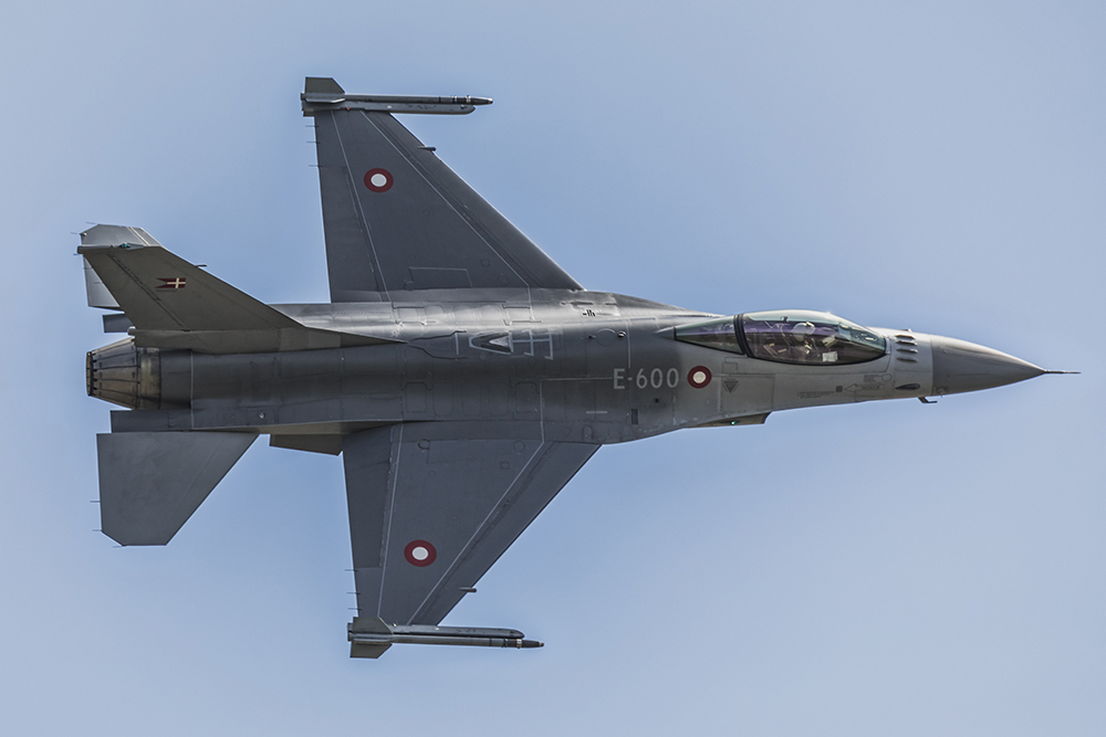F-16 Danish Air Force. Image available from Simon Westwood of Fly-by-Light Photography.