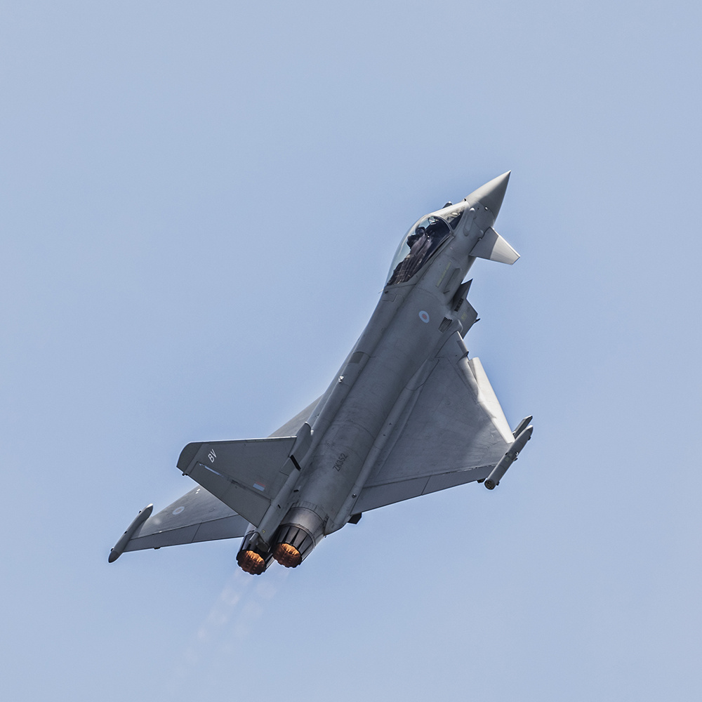 Royal Air Force Typhoon. Image available from Simon Westwood of Fly-by-Light Photography.
