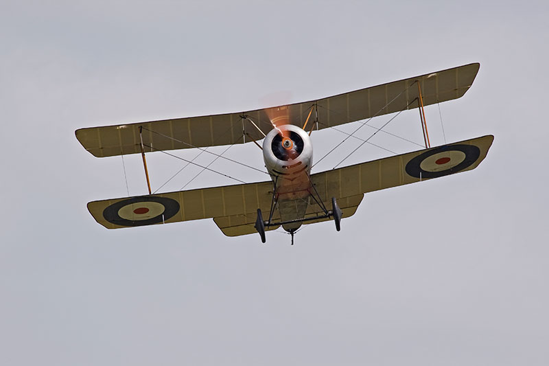Sopwith Pup replica. Image available from Simon Westwood of Fly-by-Light Photography.