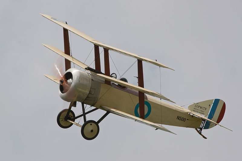 Sopwith Triplane replica. Image available from Simon Westwood of Fly-by-Light Photography.