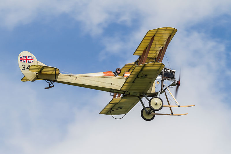 Royal Aircraft Factory Be2c replica. Image available from Simon Westwood of Fly-by-Light Photography.