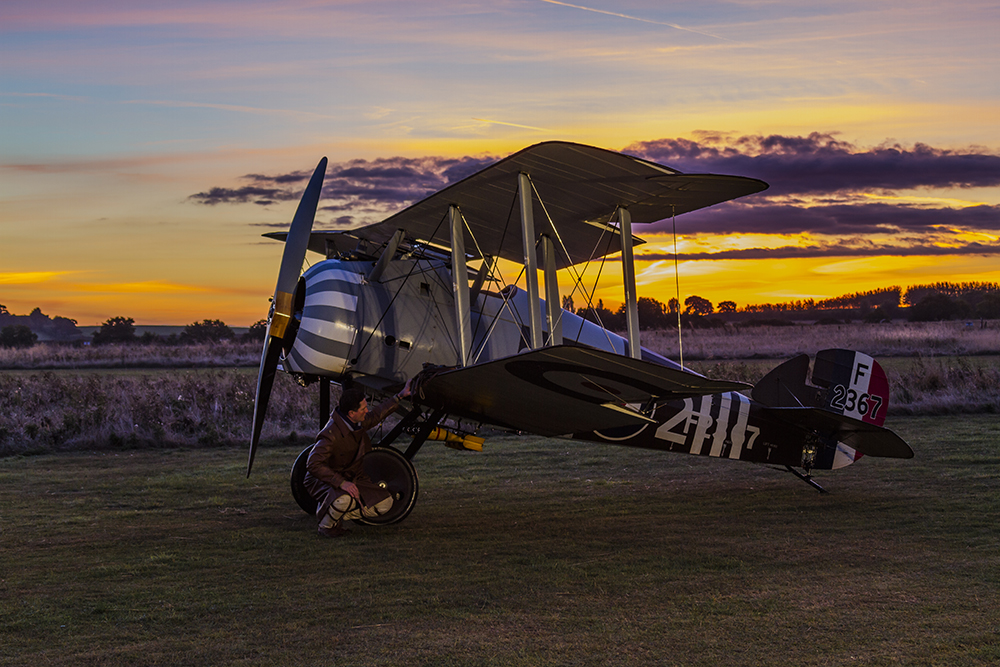 Sopwith Snipe. Image available from Simon Westwood of Fly-by-Light Photography.