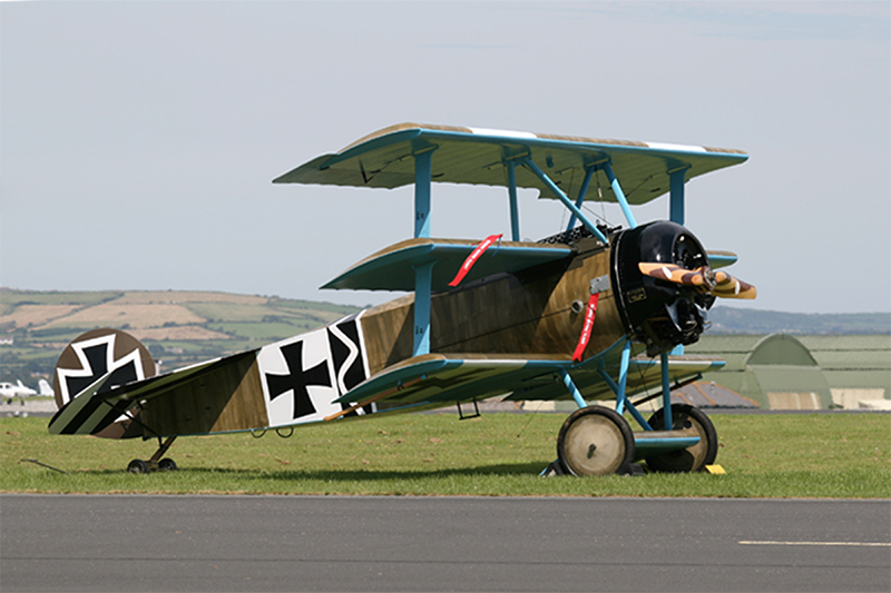 Fokker Dr1. Image available from Simon Westwood of Fly-by-Light Photography.