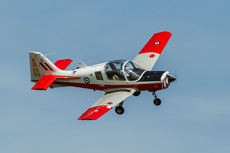 Scottish Aviation Bulldog. Image available from Simon Westwood of Fly-by-Light Photography.
