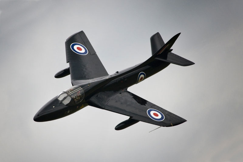Hawker Hunter T.7. Image available from Simon Westwood of Fly-by-Light Photography.