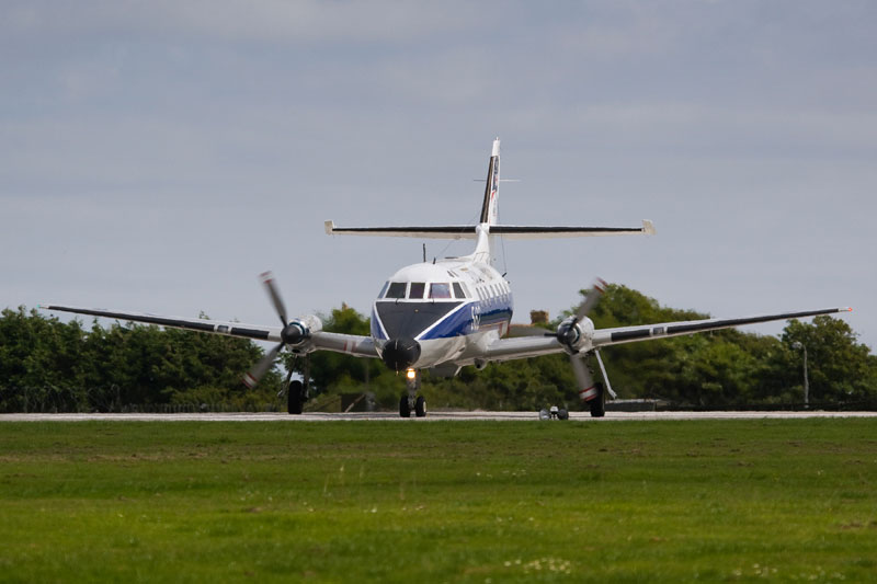 Handley-Page Jetstream. Image available from Simon Westwood of Fly-by-Light Photography.