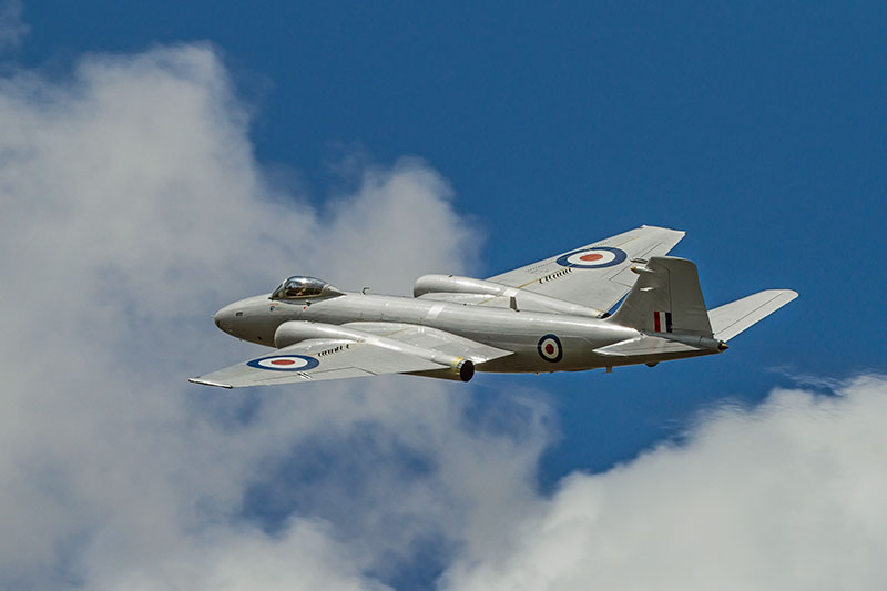 BAC (Enlish Electric) Canberra PR.9. Image available from Simon Westwood of Fly-by-Light Photography.
