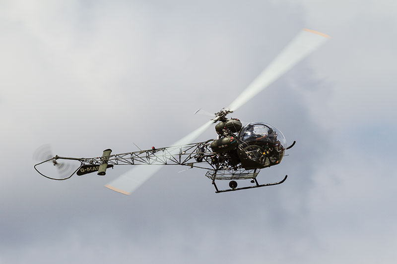 Bell 47 'Sioux' helicopter. Image available from Simon Westwood of Fly-by-Light Photography.