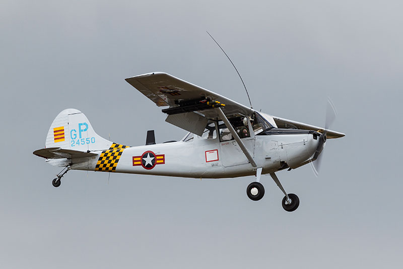 Cessna O-1 'Bird Dog'. Image available from Simon Westwood of Fly-by-Light Photography.