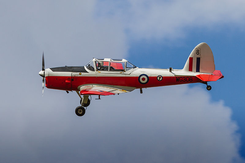 de Havilland Devon Canada Chipmunk. Image available from Simon Westwood of Fly-by-Light Photography.