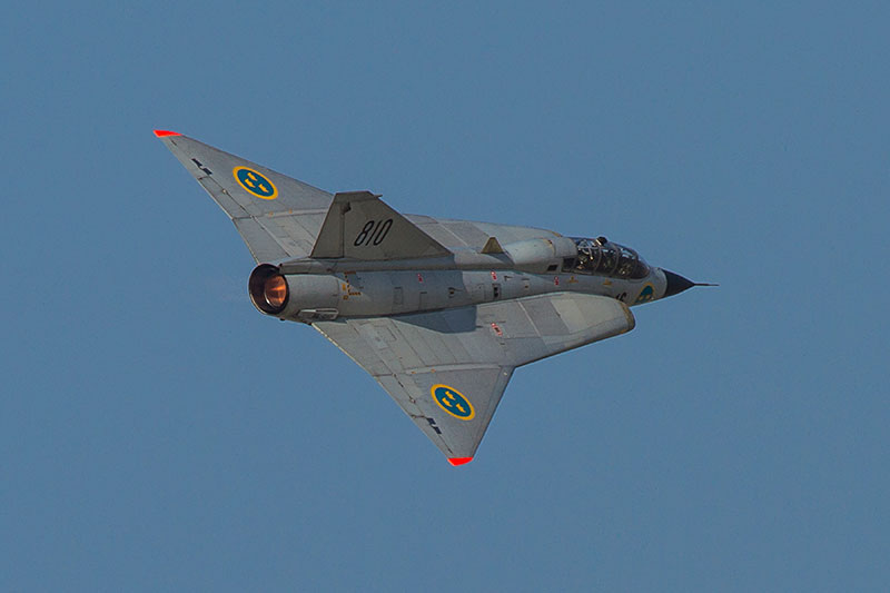 Saab Draken SK 35C. Image available from Simon Westwood of Fly-by-Light Photography.