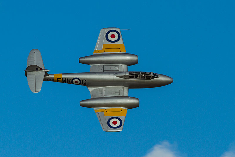 Gloster Meteor T.7. Image available from Simon Westwood of Fly-by-Light Photography.