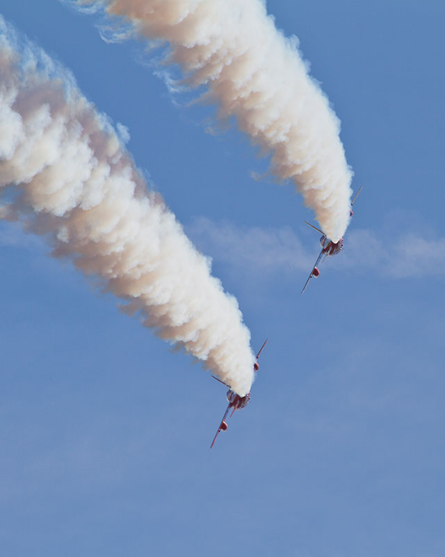 Folland Gnats Display. Image available from Simon Westwood of Fly-by-Light Photography.