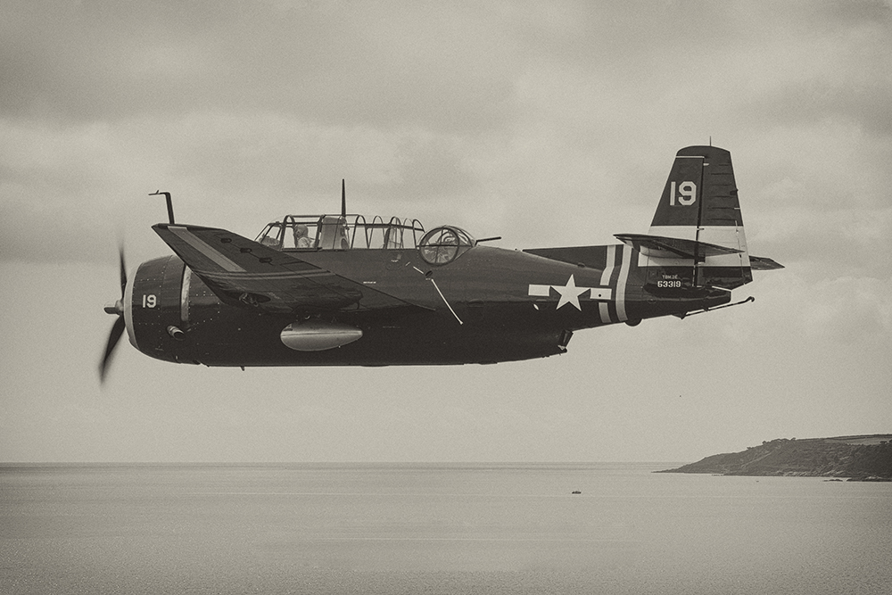 Grumman Avenger. Image available from Simon Westwood of Fly-by-Light Photography.