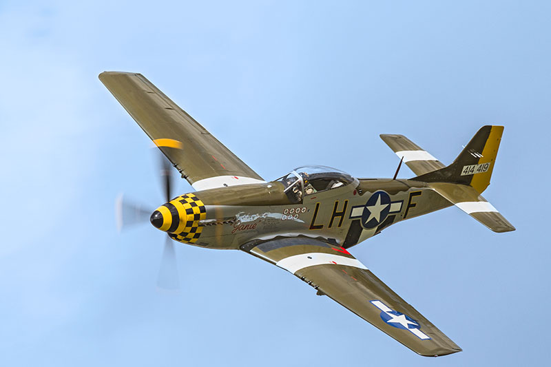 North American P-51 Mustang 'Janie'. Image available from Simon Westwood of Fly-by-Light Photography.