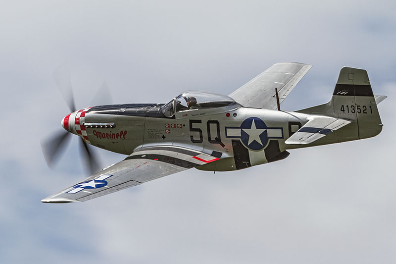 North American P-51 Mustang 'Marinell'. Image available from Simon Westwood of Fly-by-Light Photography.