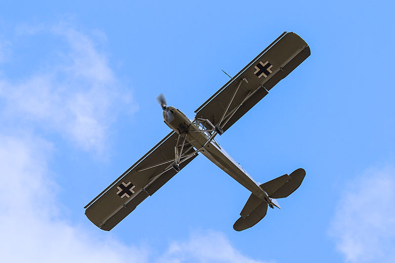 Fiesler Storch. Image available from Simon Westwood of Fly-by-Light Photography.