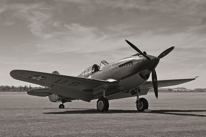 Curtiss P-40. Image available from Simon Westwood of Fly-by-Light Photography.